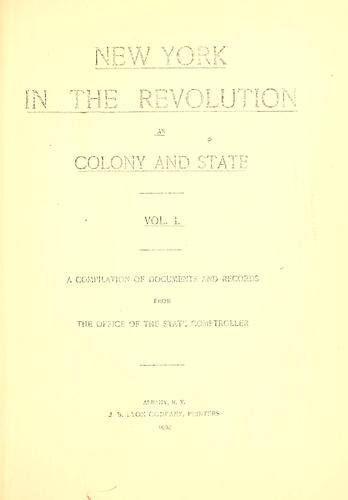 Download New York in the Revolution as colony and state