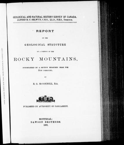 Download Report on the geological structure of a portion of the Rocky Mountains