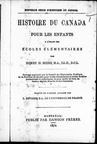 Download Histoire du Canada pour les enfants