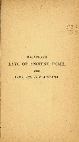Download Macaulay's Lays of ancient Rome.
