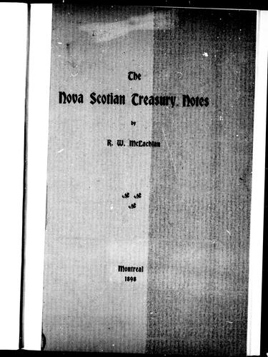 Download The Nova Scotian treasury notes