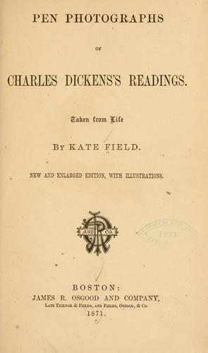 Download Pen photographs of Charles Dickens's readings.