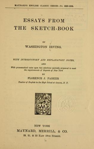Essays from the Sketch-book