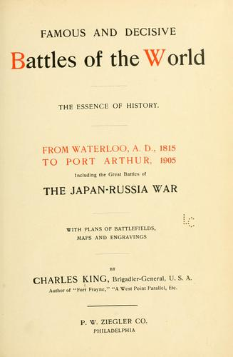Download Famous and decisive battles of the world