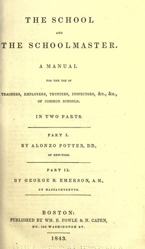 Download The school and the schoolmaster.