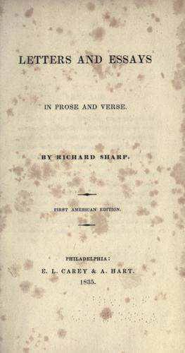 Letters and essays in prose and verse.