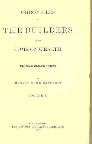Download Chronicles of the builders of the commonwealth