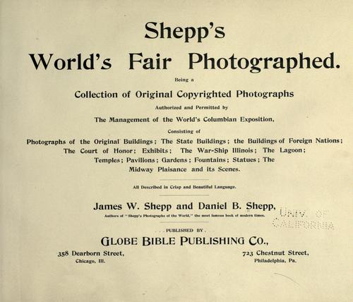 Shepp's World's fair photographed.