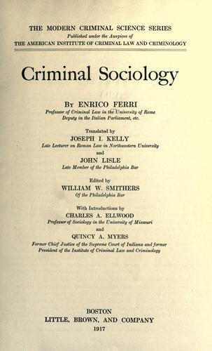 Download Criminal sociology.