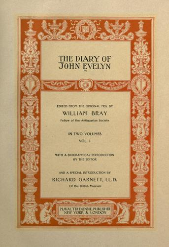 Diary by John Evelyn