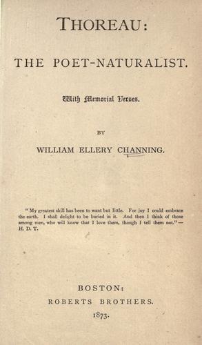 Download Thoreau: the poet-naturalist