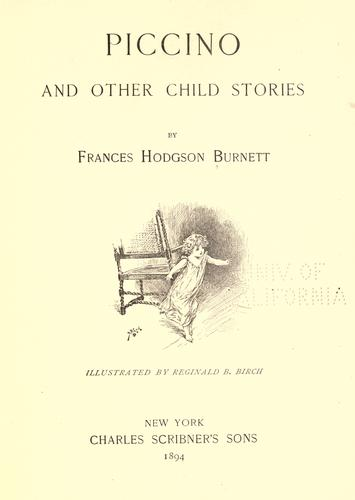 Piccino, and other child stories.