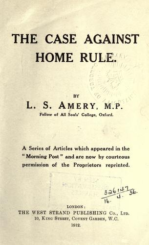 Download The case against home rule