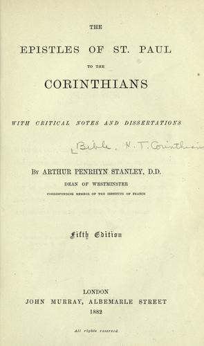Download The epistles of St. Paul to the Corinthians