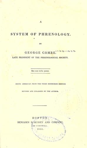 A system of phrenology