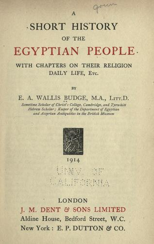 Download A short history of the Egyptian people