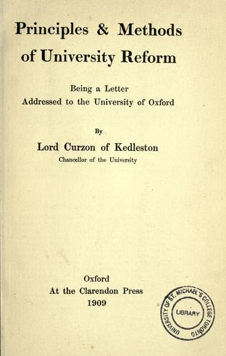 Download Principles & methods of university reform