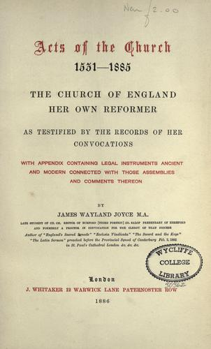 Download Acts of the Church, 1531-1885
