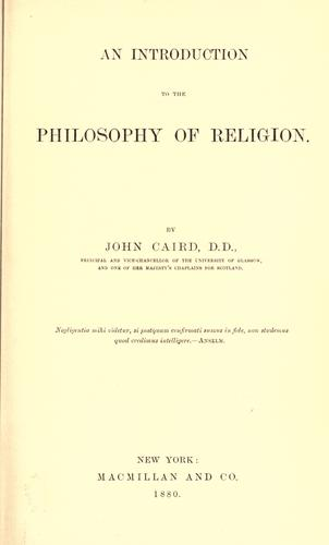 An introduction to the philosophy of religion.