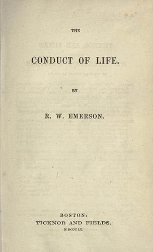 Download The conduct of life.