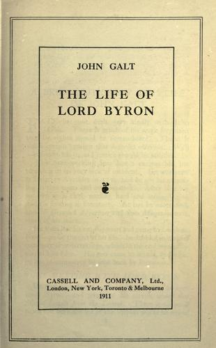 The life of Lord Byron.