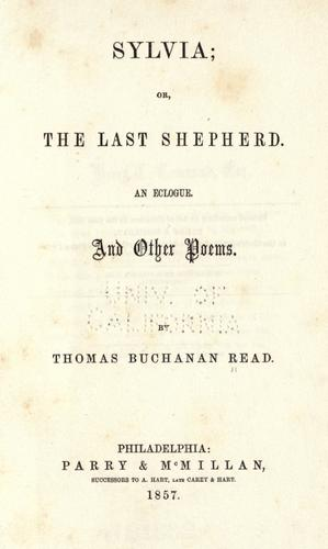 Sylvia, or, The last shepherd