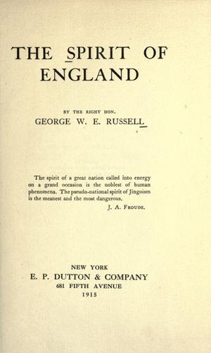 Download The spirit of England