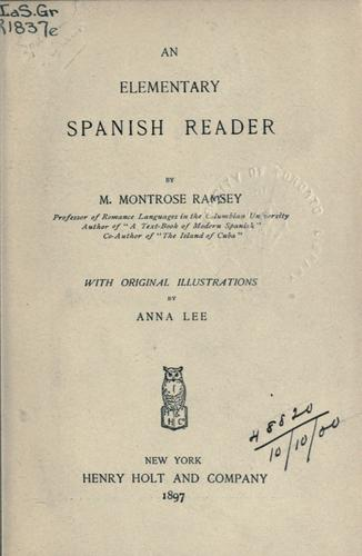 Download An elementary Spanish reader