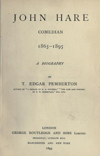 Download John Hare, comedian, 1865-1895