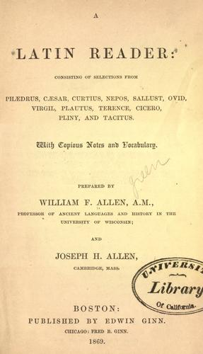 A Latin reader by William Francis Allen