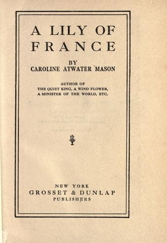 Download A lily of France