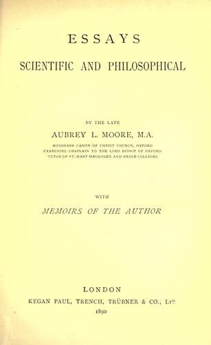 Download Essays scientific and philosophical.