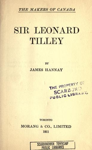 Download Sir Leonard Tilley.