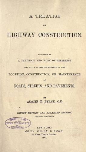 Download A treatise on highway construction
