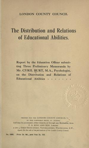 The distribution and relations of educational abilities