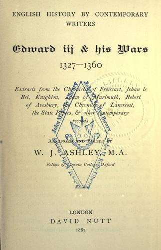 Download Edward III & his wars, 1327-1360