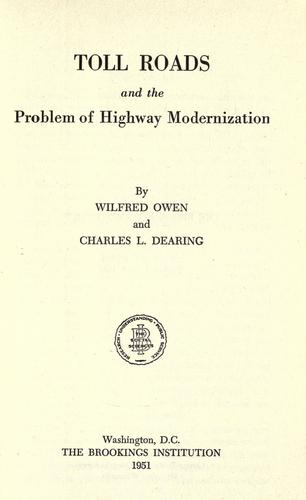 Download Toll roads and the problem of highway modernization