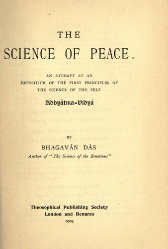 Download The science of peace