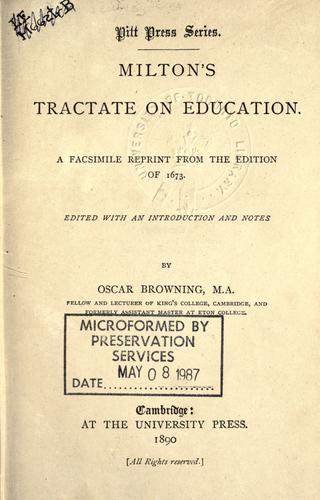 Tractate on education.