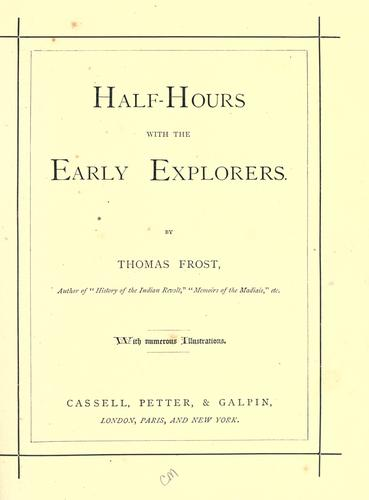 Download Half-hours with the early explorers.