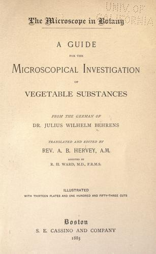 The microscope in botany.