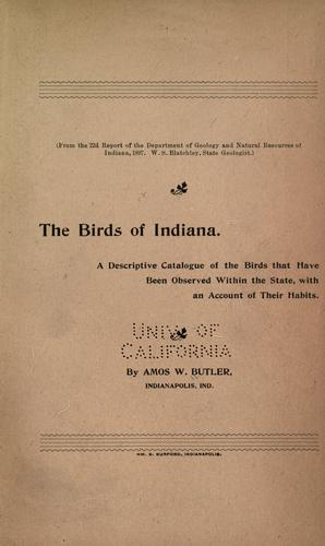 Download The birds of Indiana.