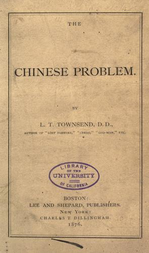 Download The Chinese problem