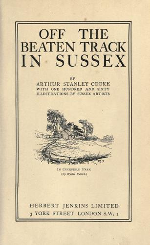 Download Off the beaten track in Sussex.