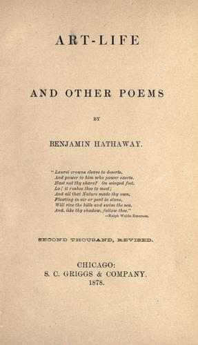 Art-life, and other poems.