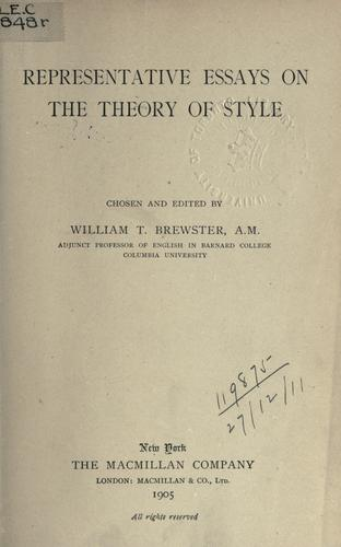 Download Representative essays on the theory of style.