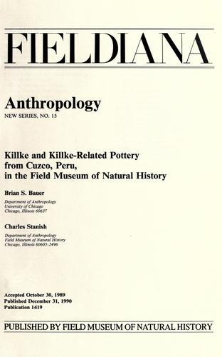 Download Killke and Killke-related pottery from Cuzco, Peru, in the Field Museum of Natural History