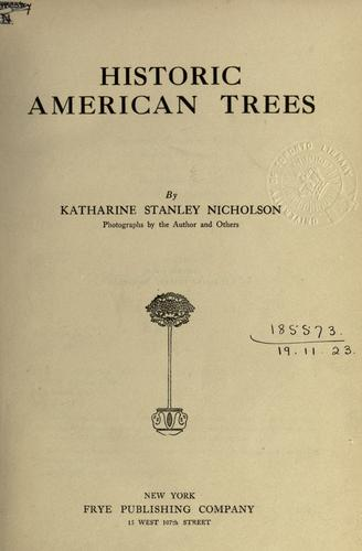 Download Historic American trees.