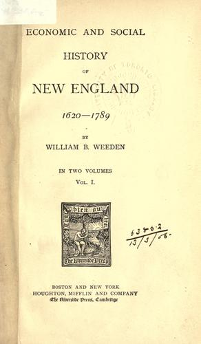 Download Economic and social history of New England, 1620-1789.