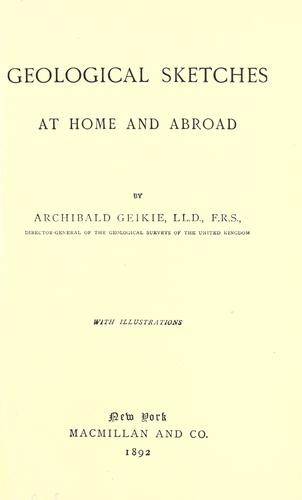 Download Geological sketches at home and abroad